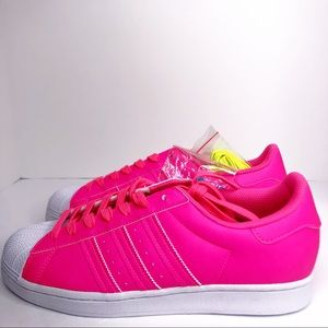 Adidas Superstar Solar Pink White Shoes